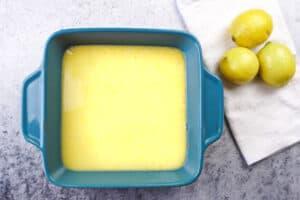 lemon bars before baking