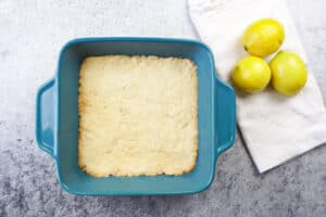 lemon bar crust baked