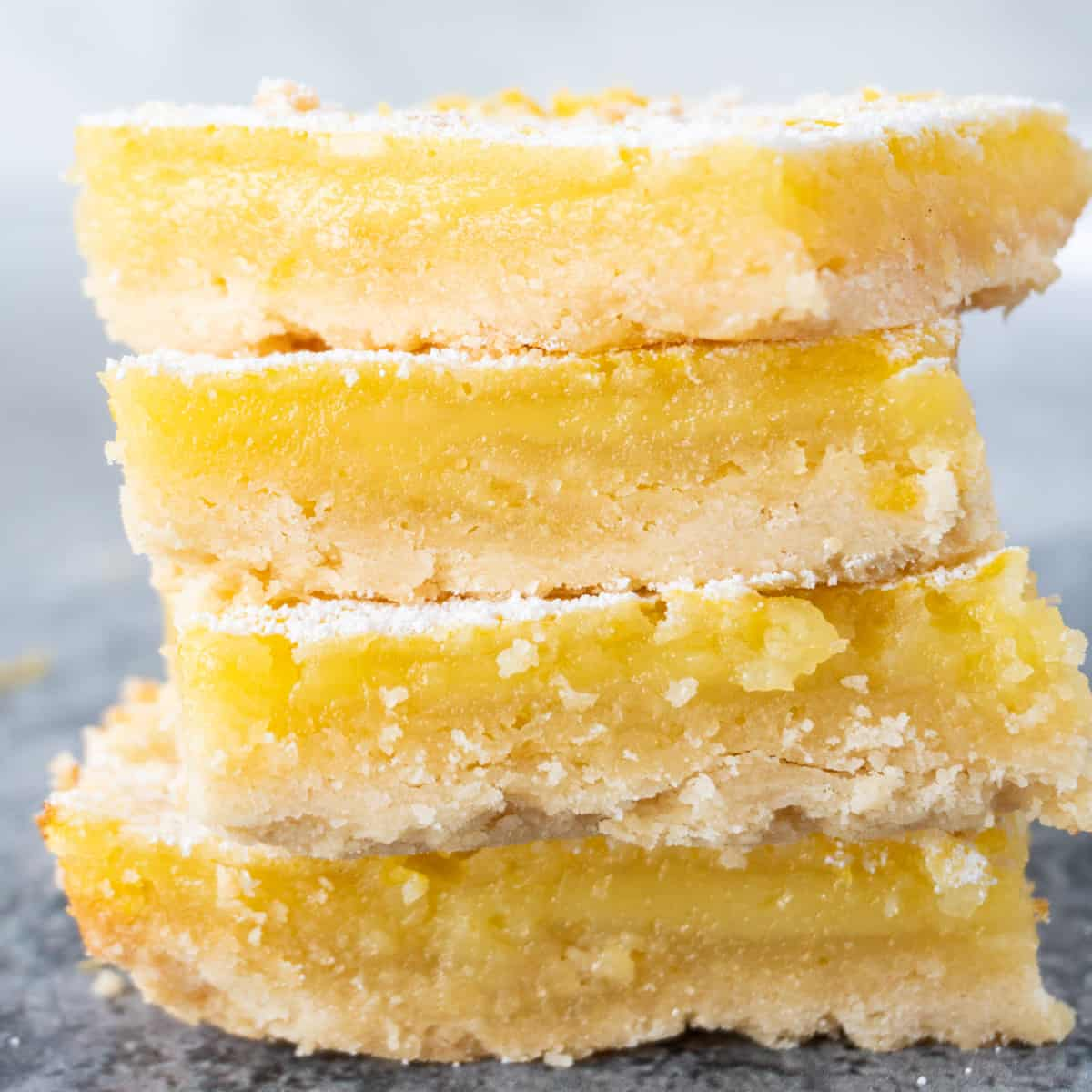 lemon bars stacked featured image