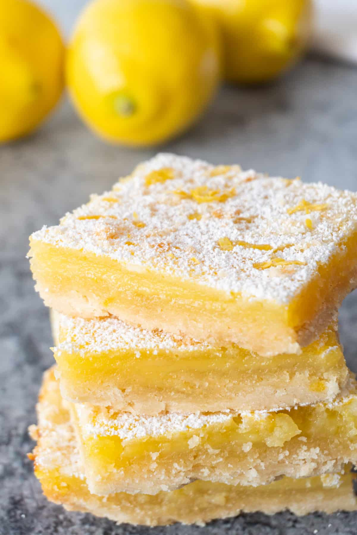 lemon bars from scratch stacked