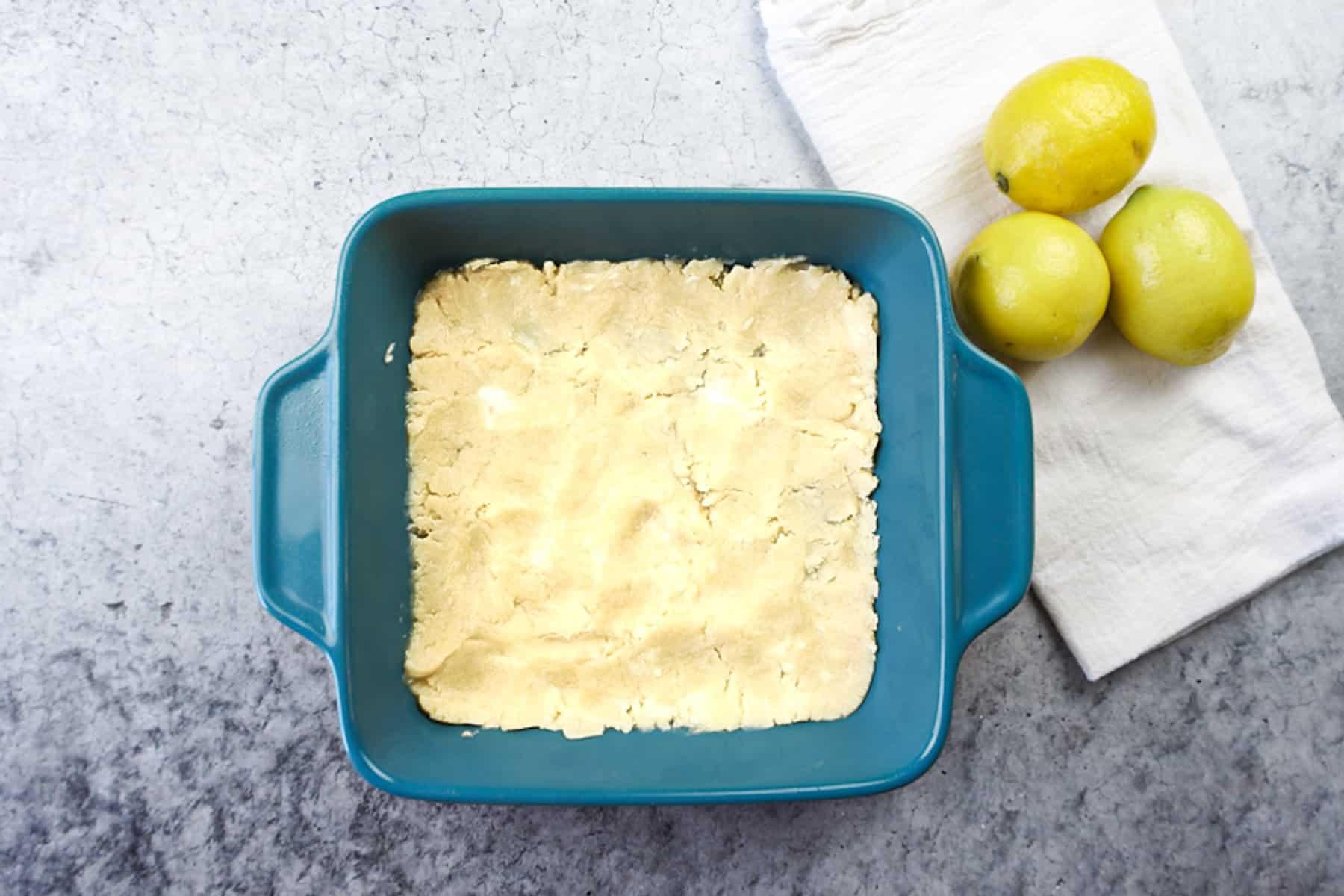 crust before baking