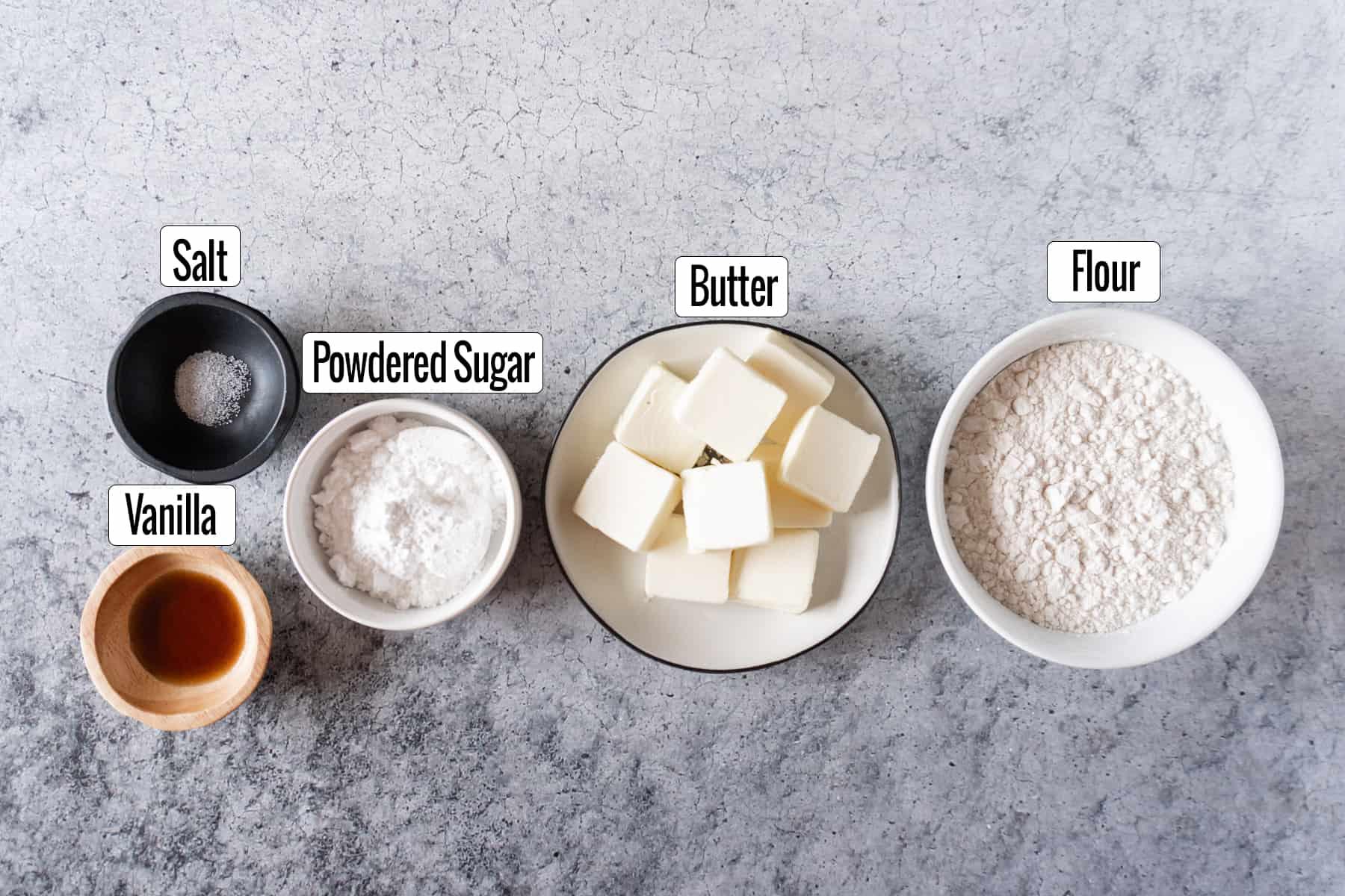 lemon bar crust ingredients salt, vanilla, powdered sugar, butter, flour