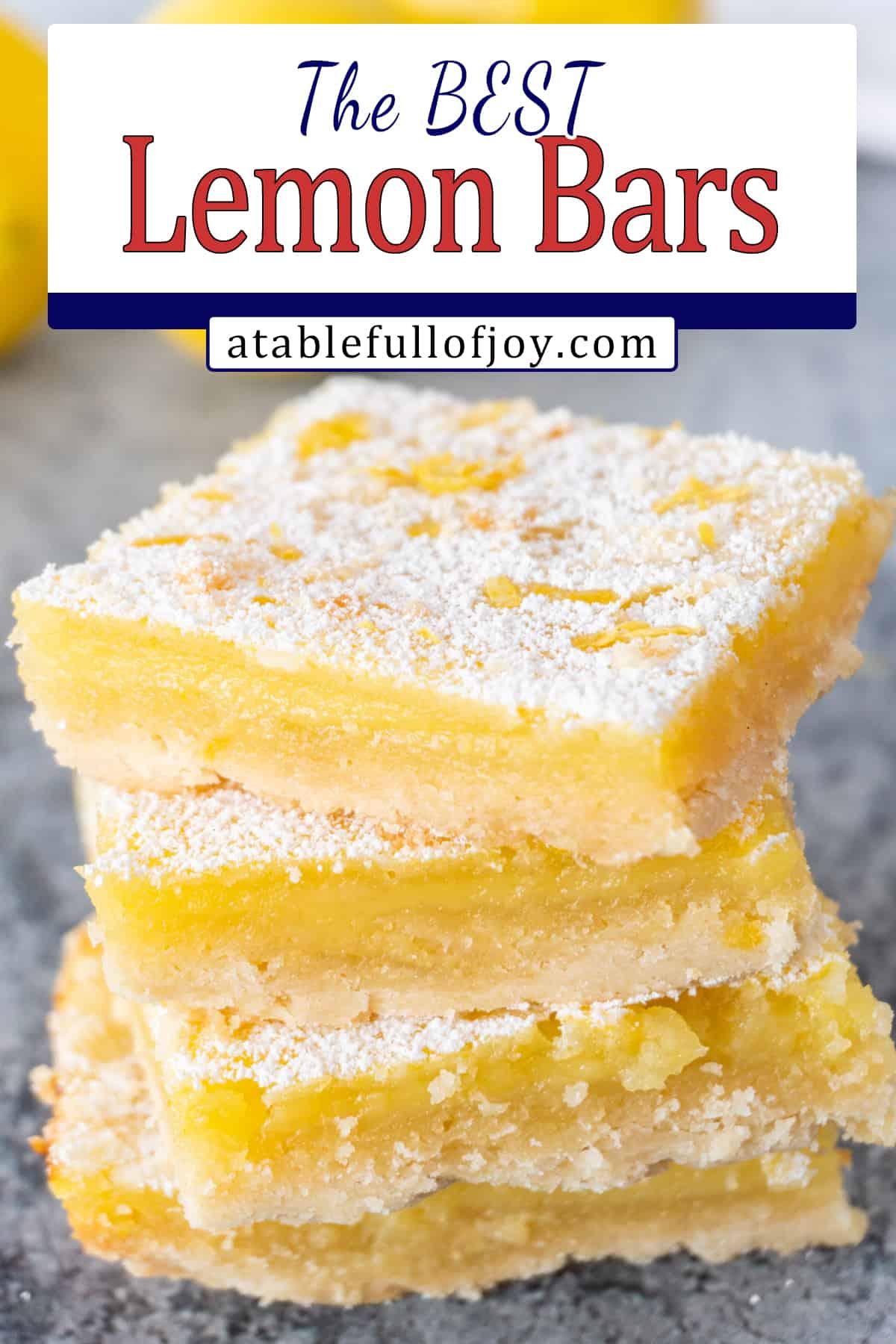 lemon bars from scratch pinterest pin