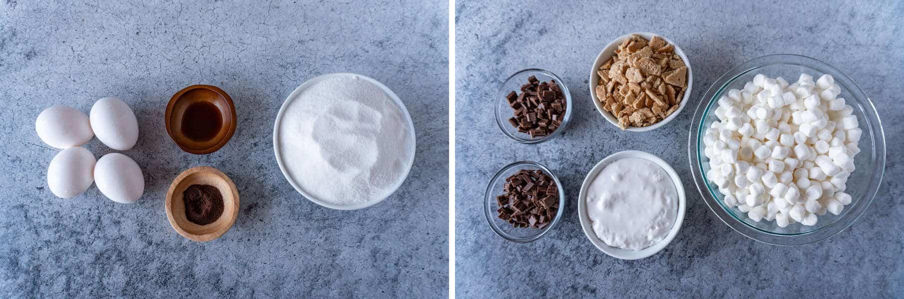 S'mores Brownies Ingredients