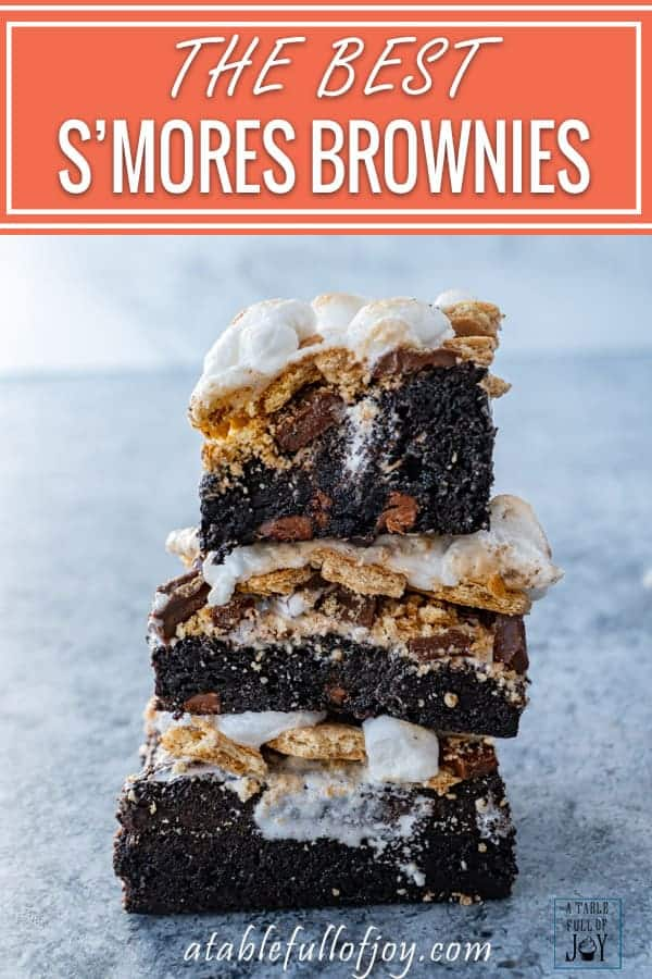 S'mores Brownies Pinnterest Pin