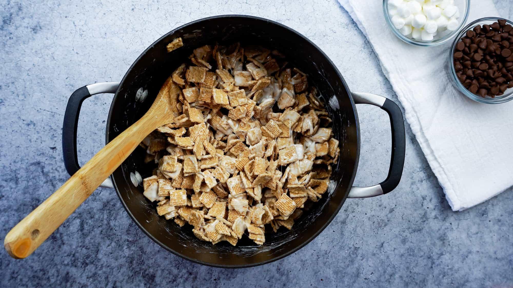 golden grahams mixed in marshmallow