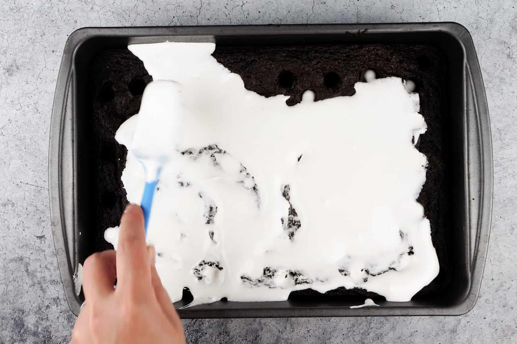 adding marshmallow creme to brownies