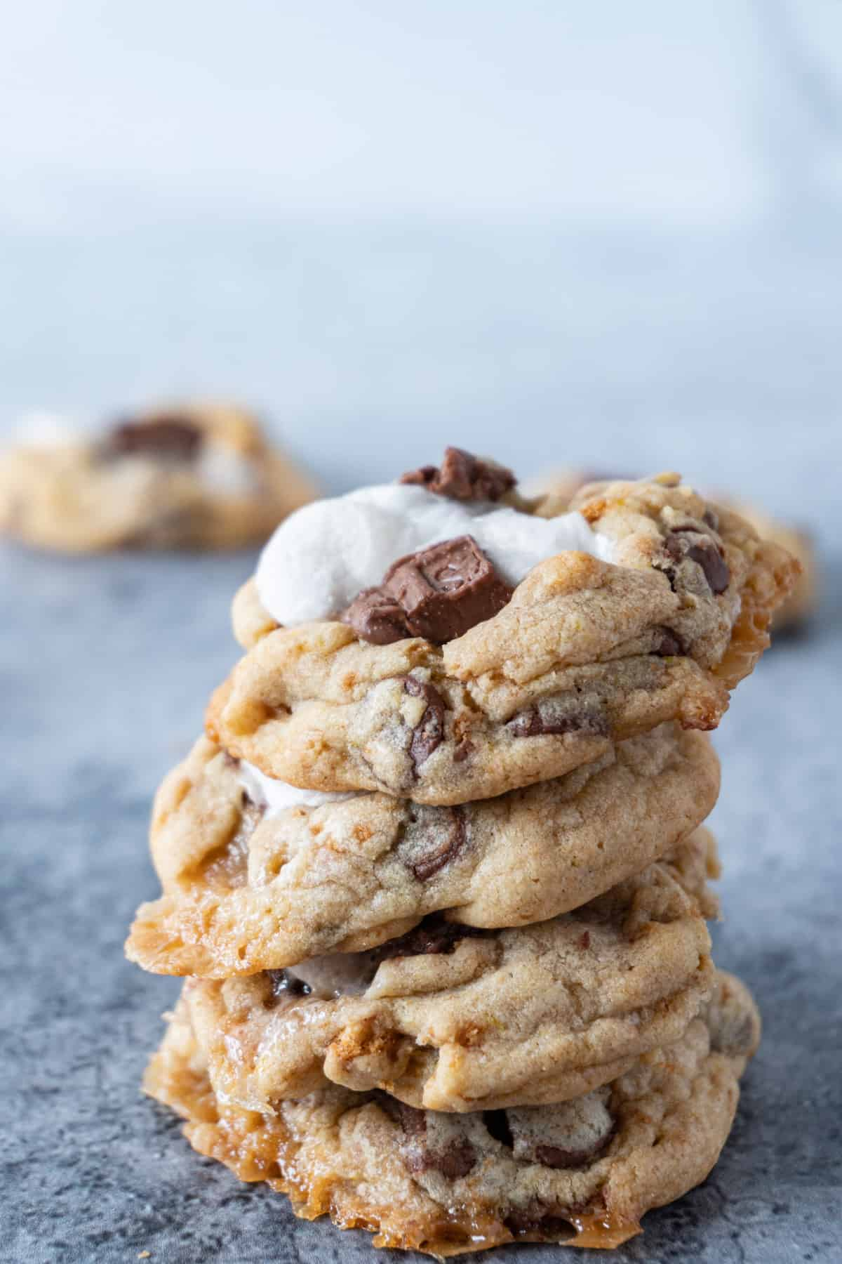 S'more cookies stacked