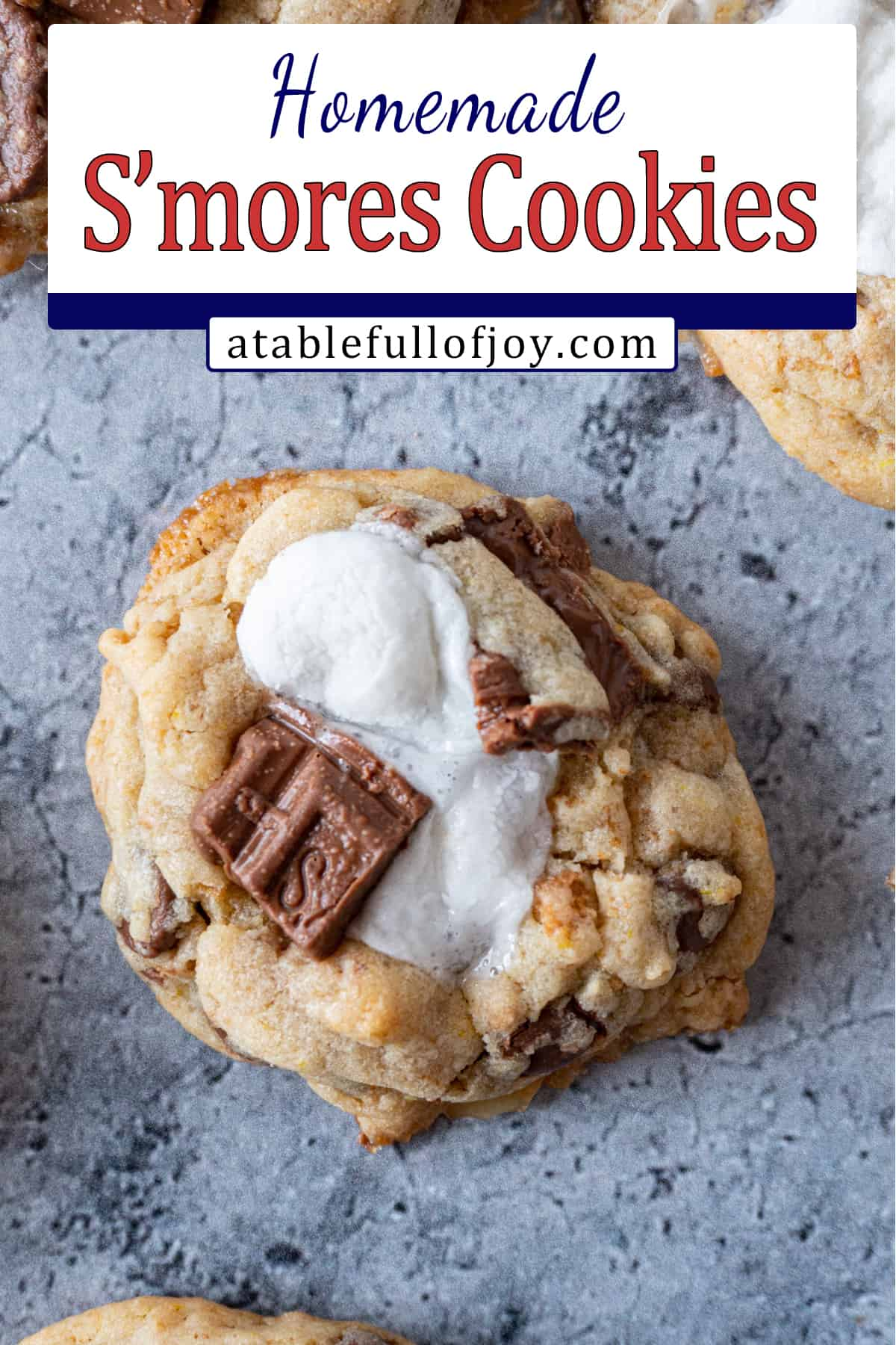 S'more cookie pinterest pin