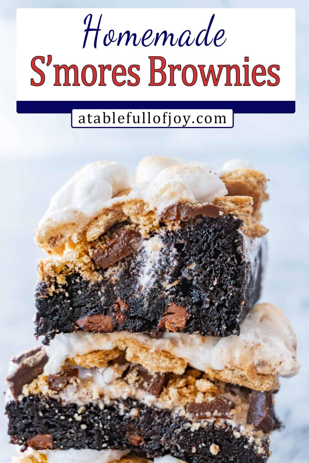 s'more brownies recipe pinterest pin