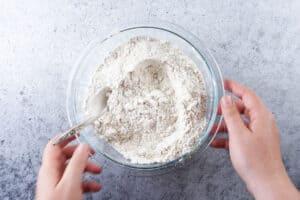 flour mixture mixed