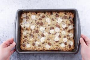cookie dough batter after baking