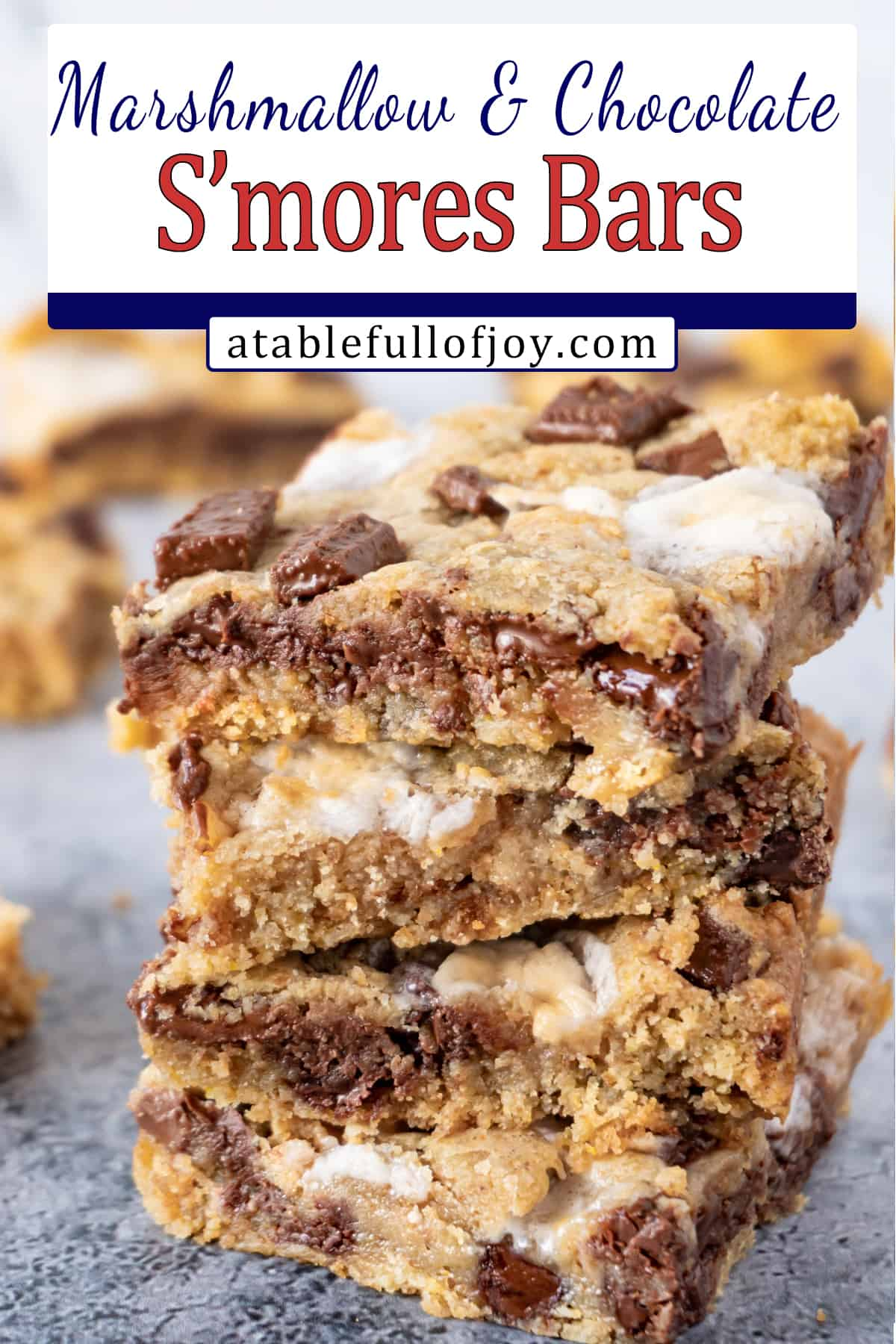 s'more cookie bar pinterest pin