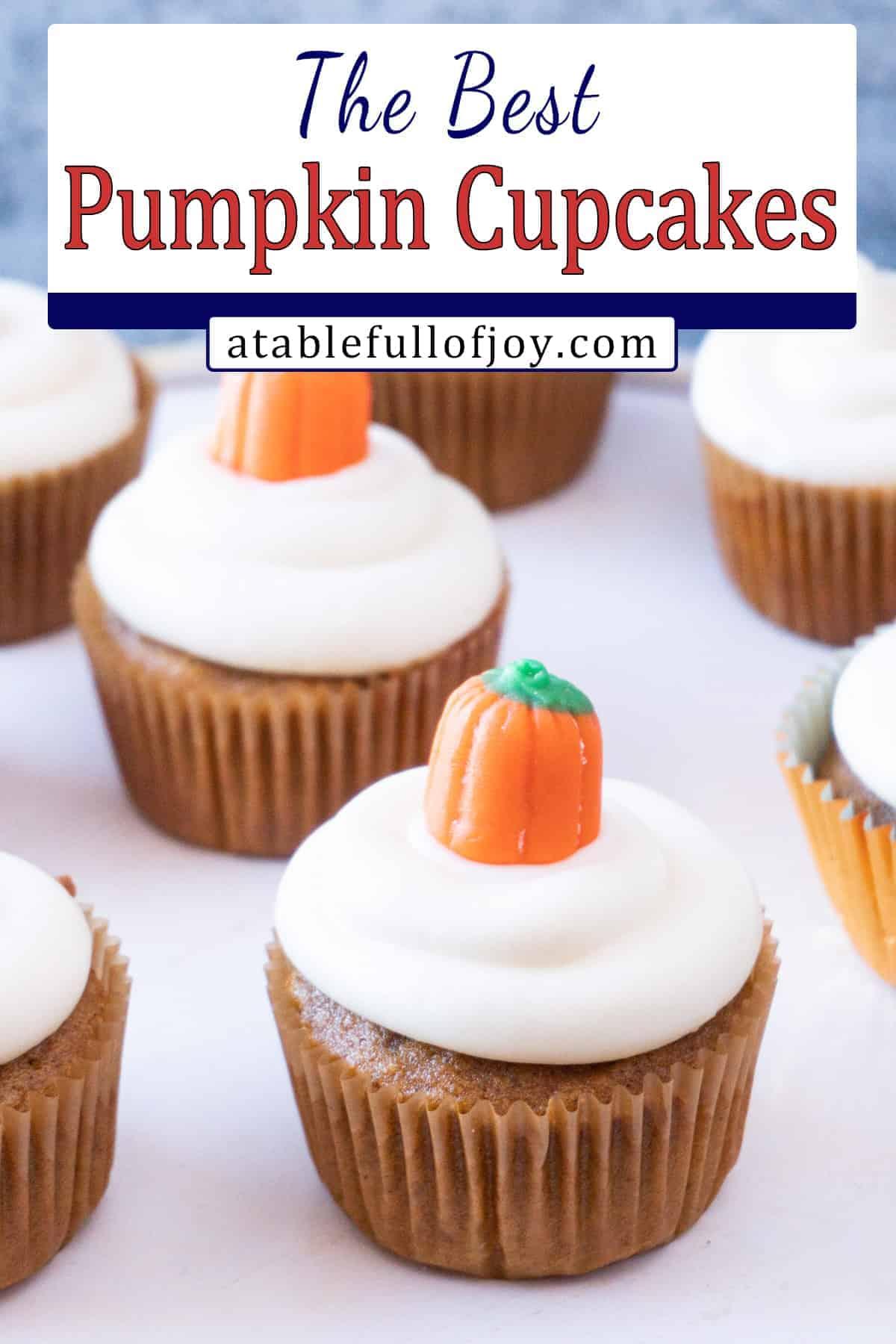 Pumpkin cupcakes pinterest pin