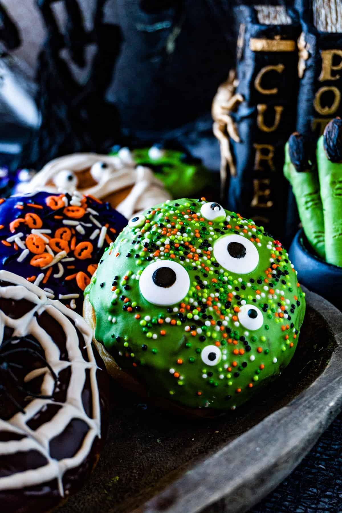Halloween Donuts on a try