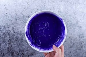 melted purple candy melts