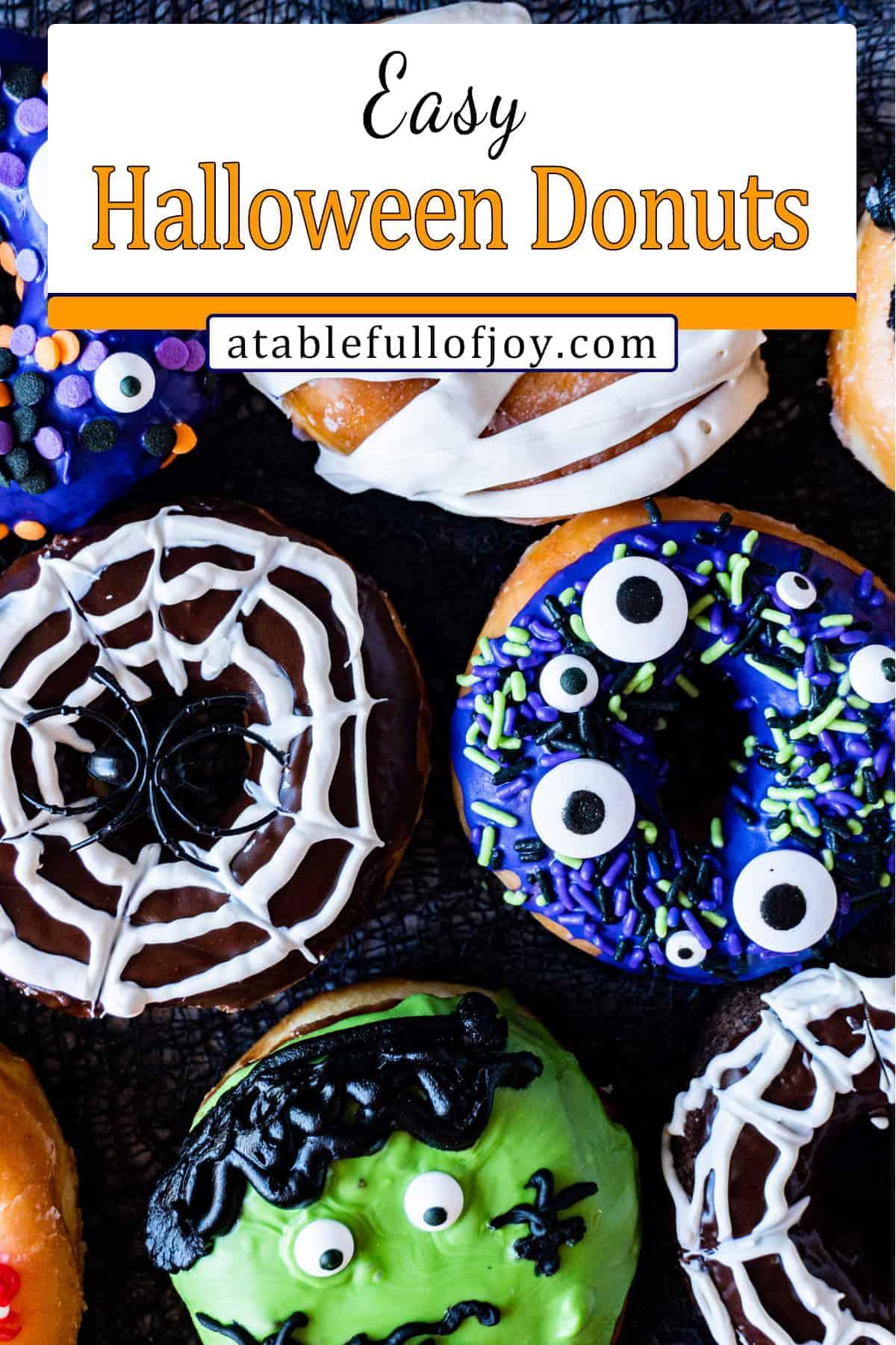 Halloween Donuts pinterest pin