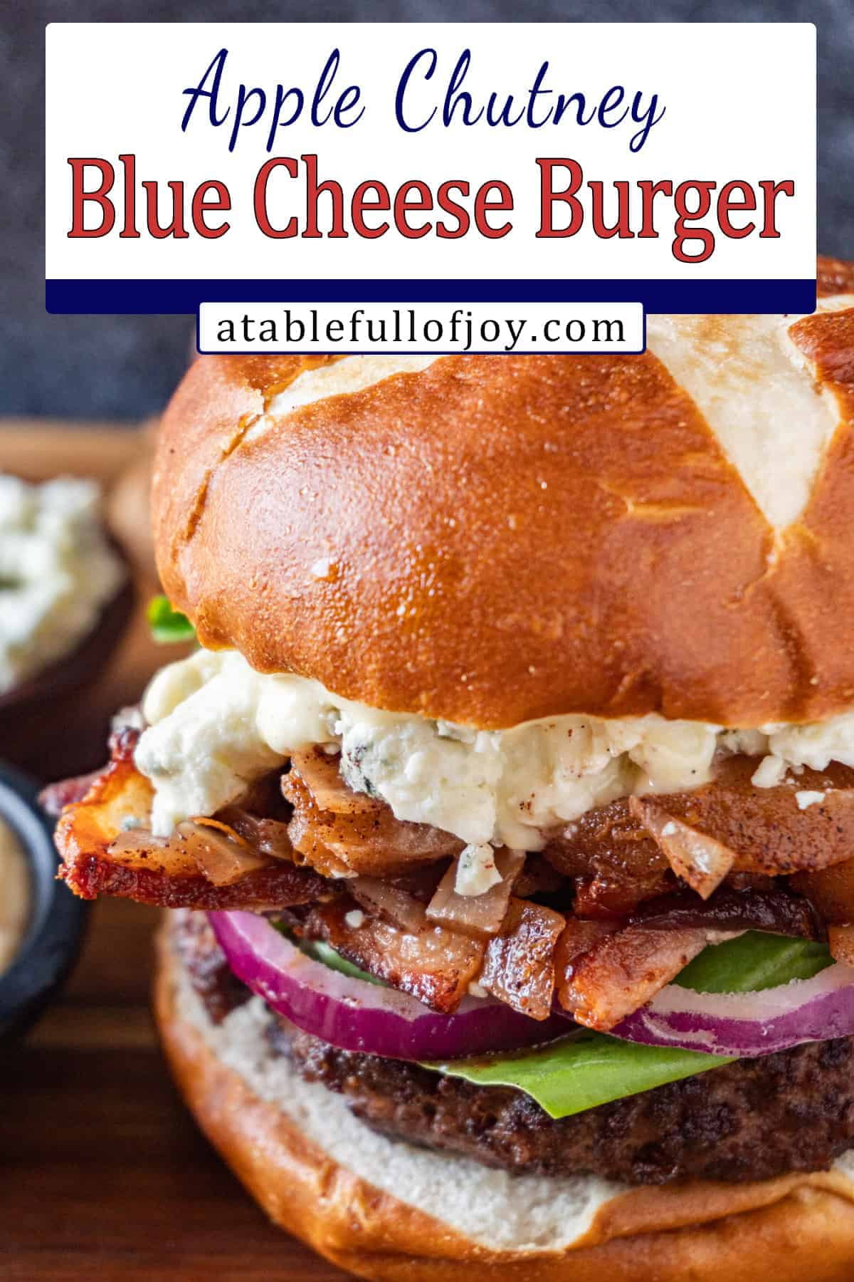 blue cheese burger pinterest pin