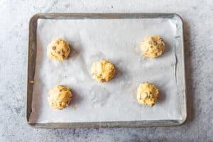 cookies on cookie sheet before baking