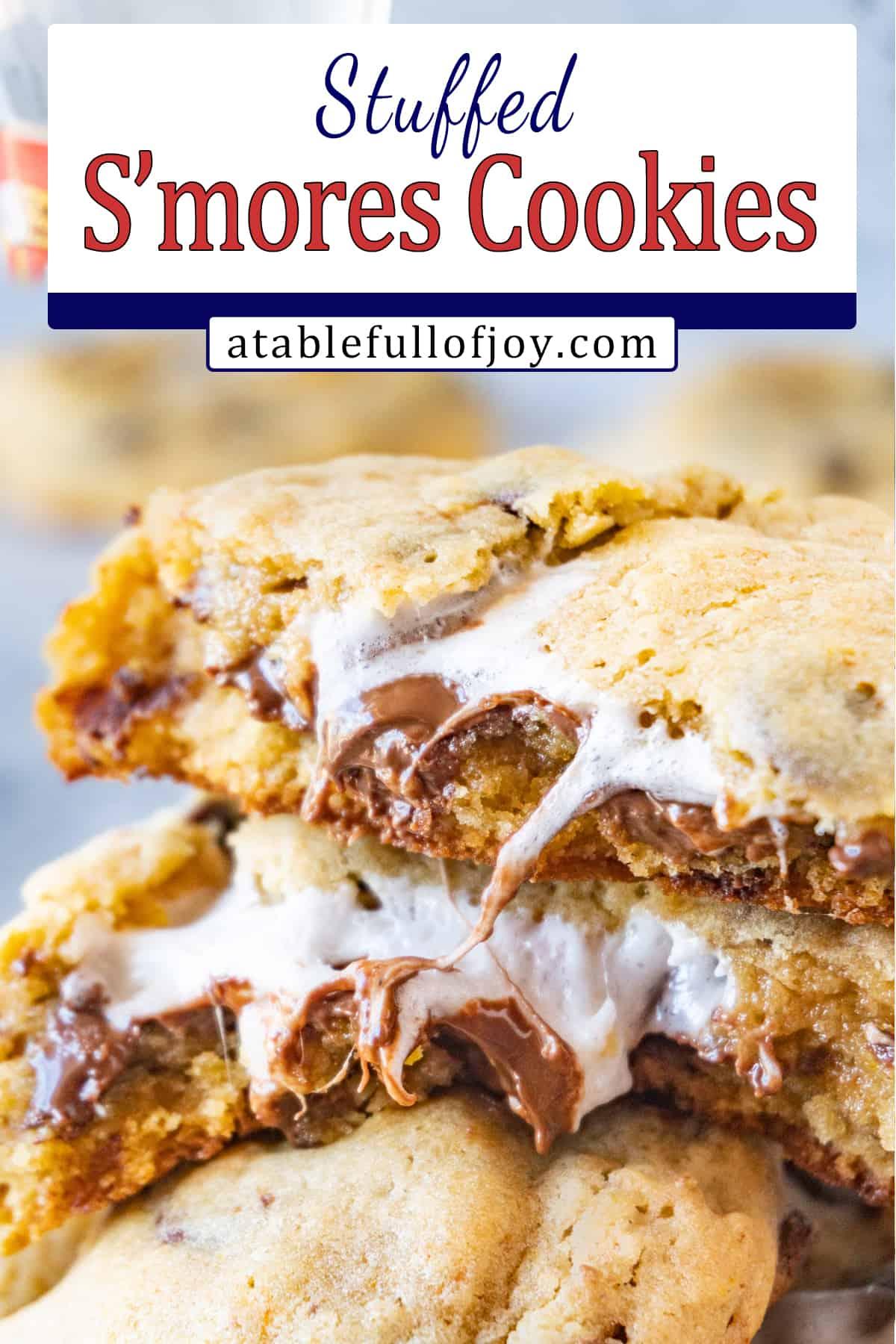 marshmallow stuffed cookies pinterest pin