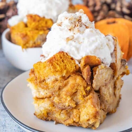 Pumpkin Bread Pudding Featured image