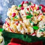 Christmas Popcorn in a large bowl