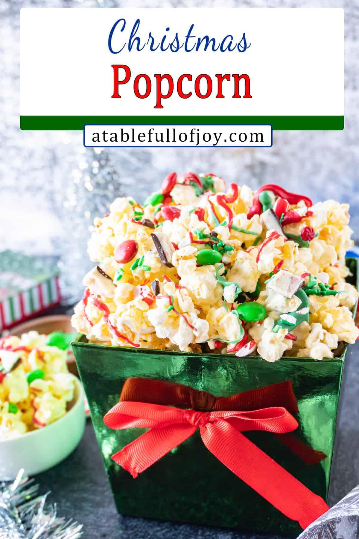 Holiday Popcorn pinterest pin