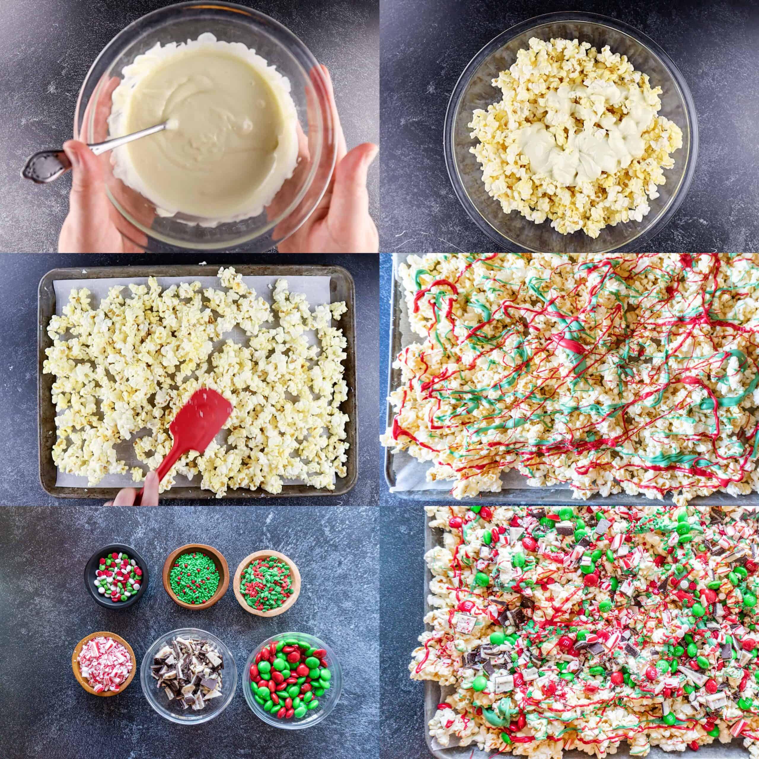 Christmas Popcorn process shots
