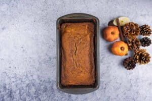 Pumpkin bread baked