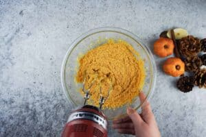 Pumpkin mixtures (with sugar, egg, vanilla)