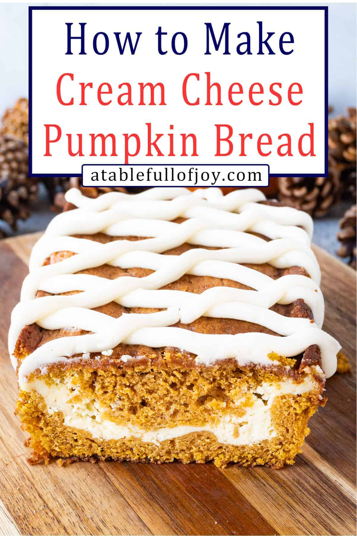 Pumpkin Bread pinterest image