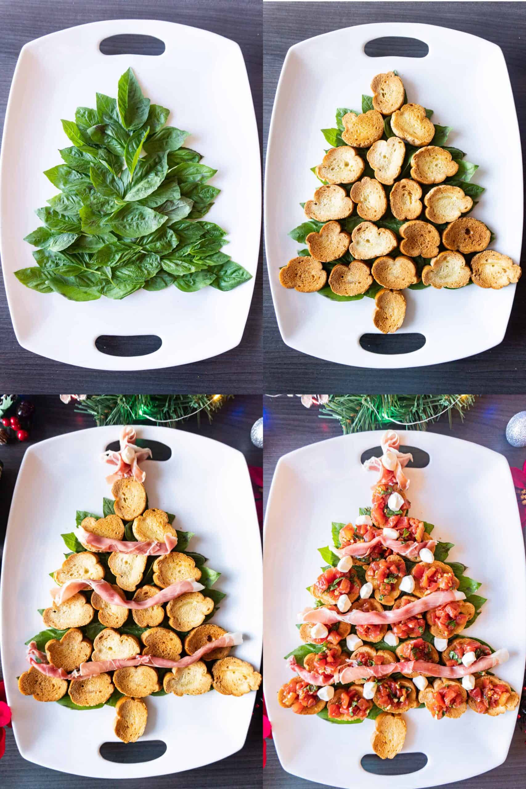 building the christmas tree appetizer