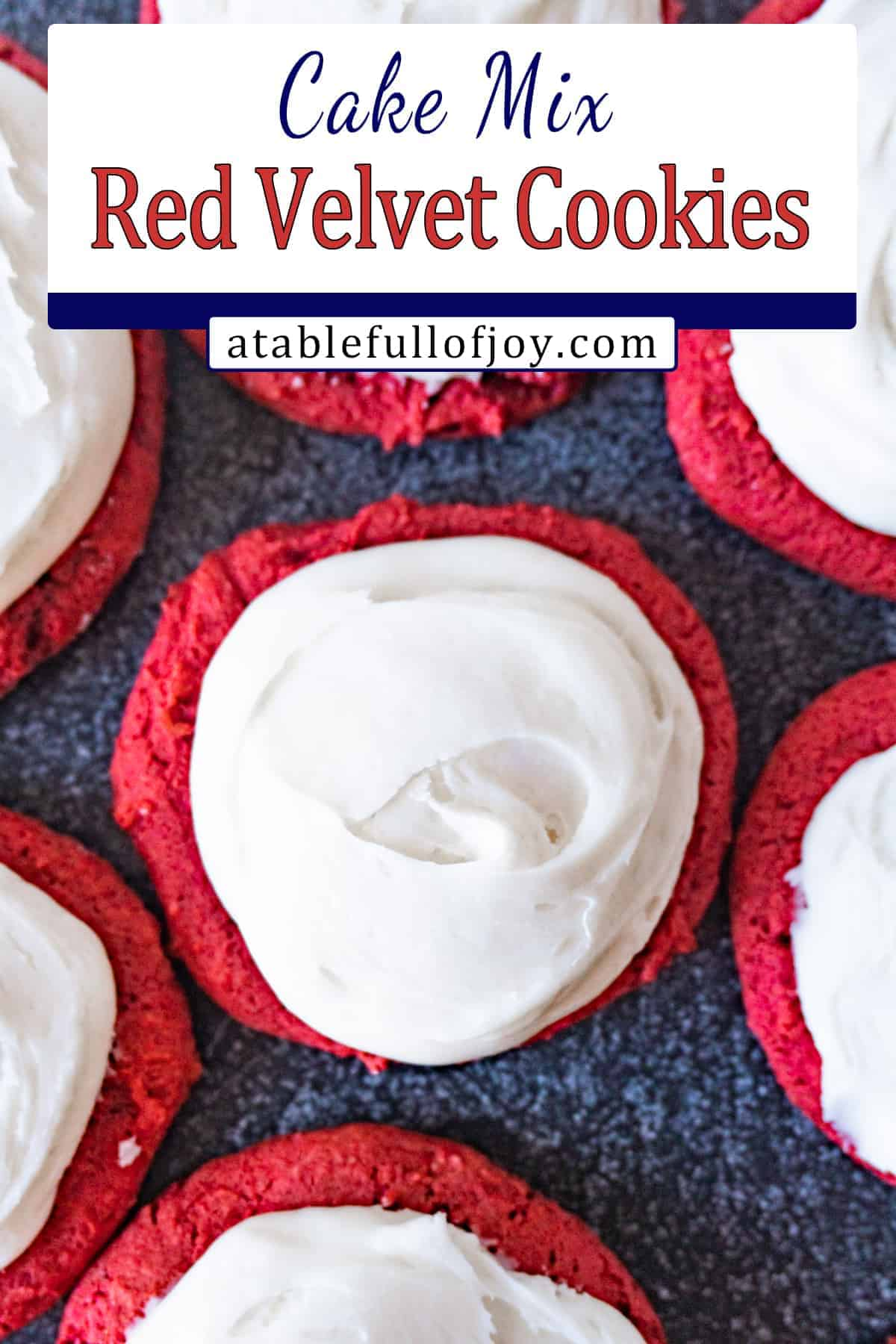 red velvet cake cookies pinterest pin