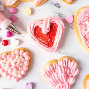 Best valentine's heart sugar cookies featured image