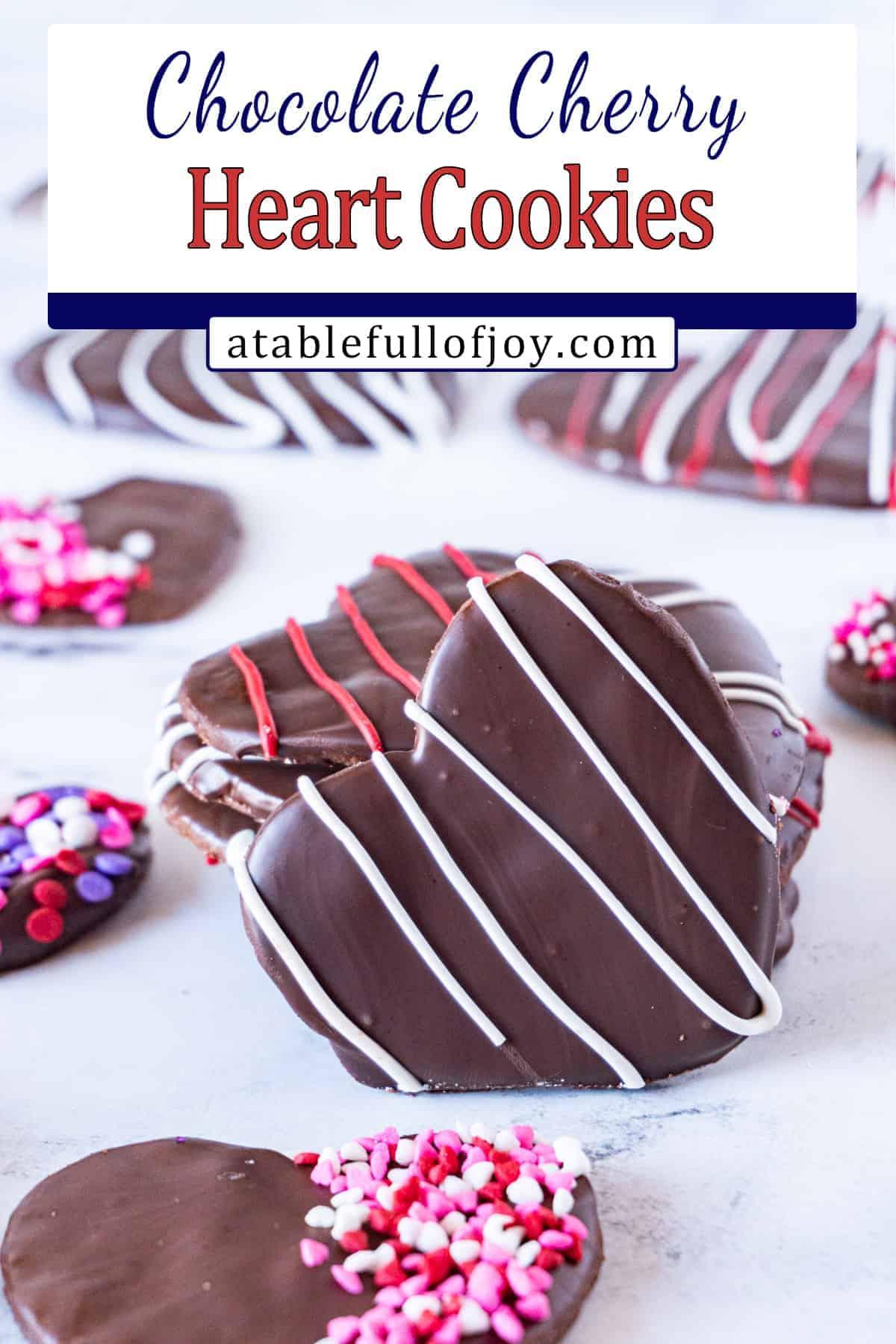 chocolate cherry cookies pinterest pin