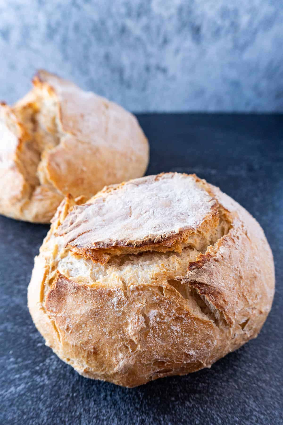baked bread loaves
