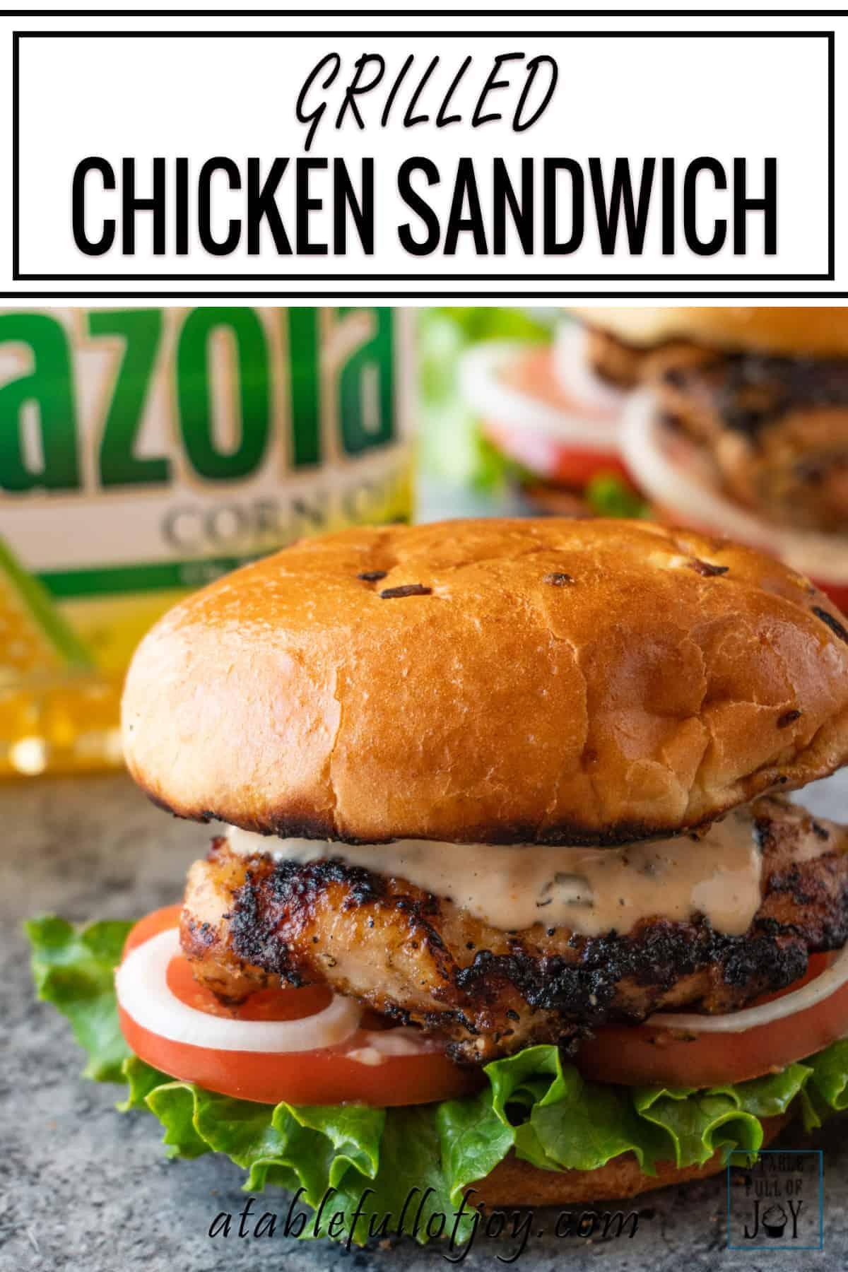 Grilled Chicken Sandwich pinterest pin