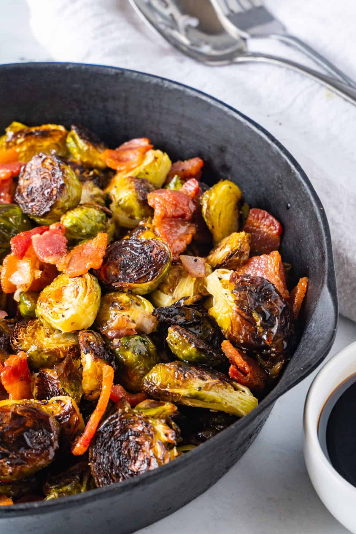 Brussel Sprouts in a Cast Iron