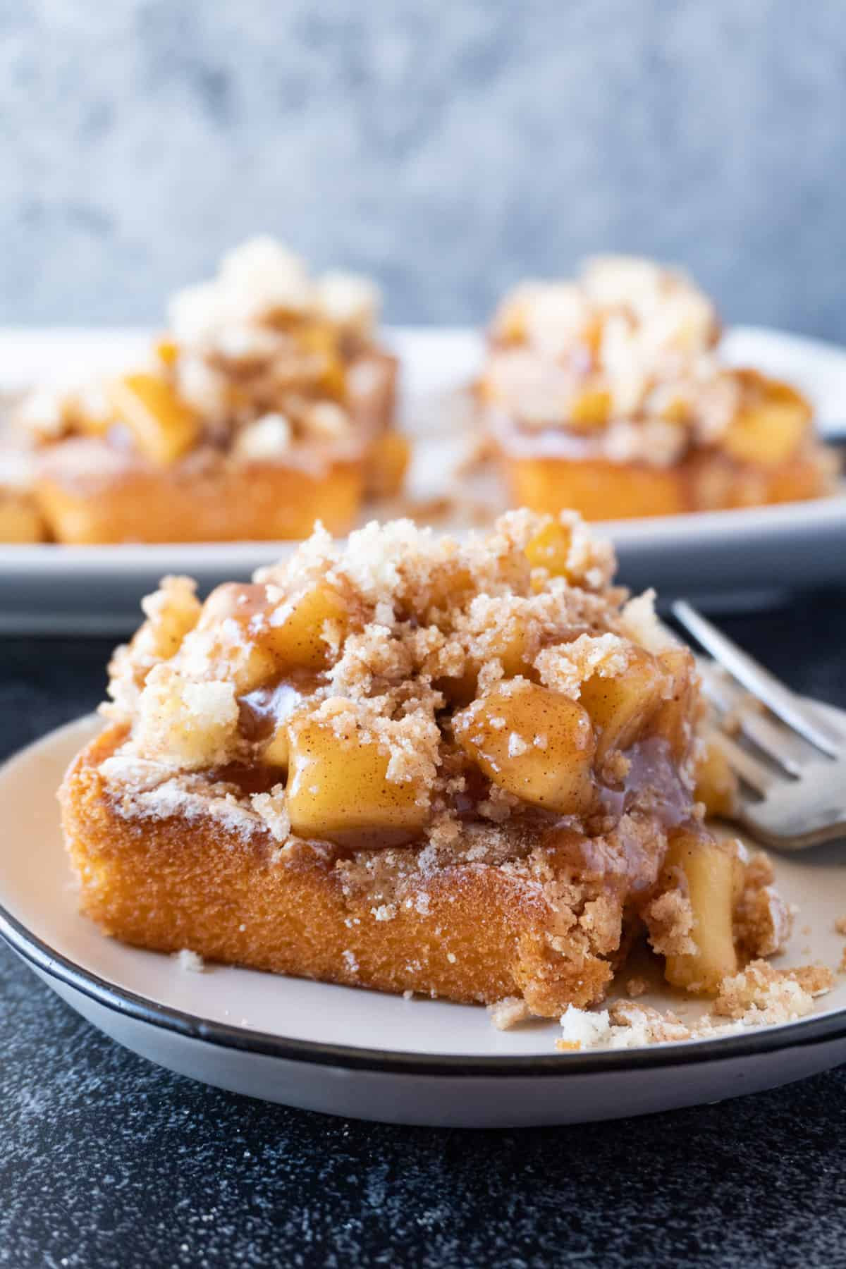 Apple Cobbler Cake on a plate