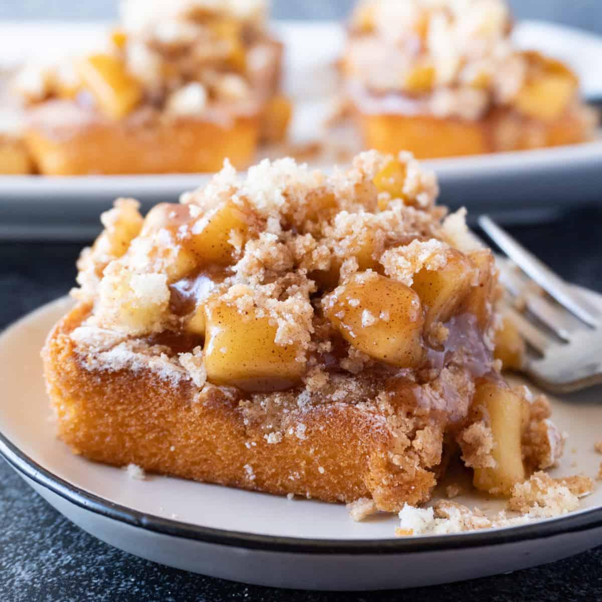 Apple Cobbler Cake Featured Image