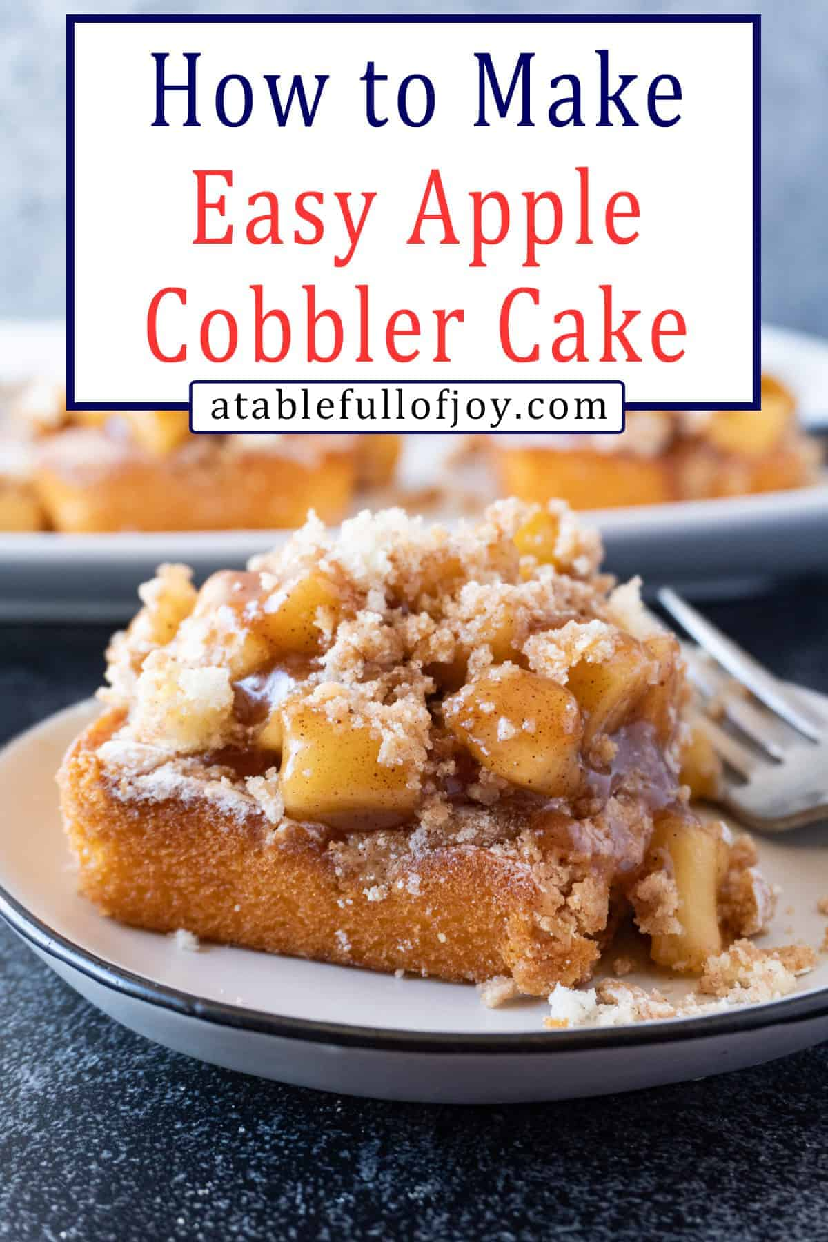 Apple Cobbler Cake Pinterest Pin