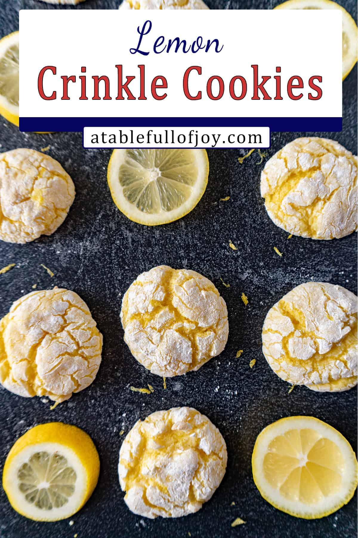 Lemon Cookie Pinterest Pin