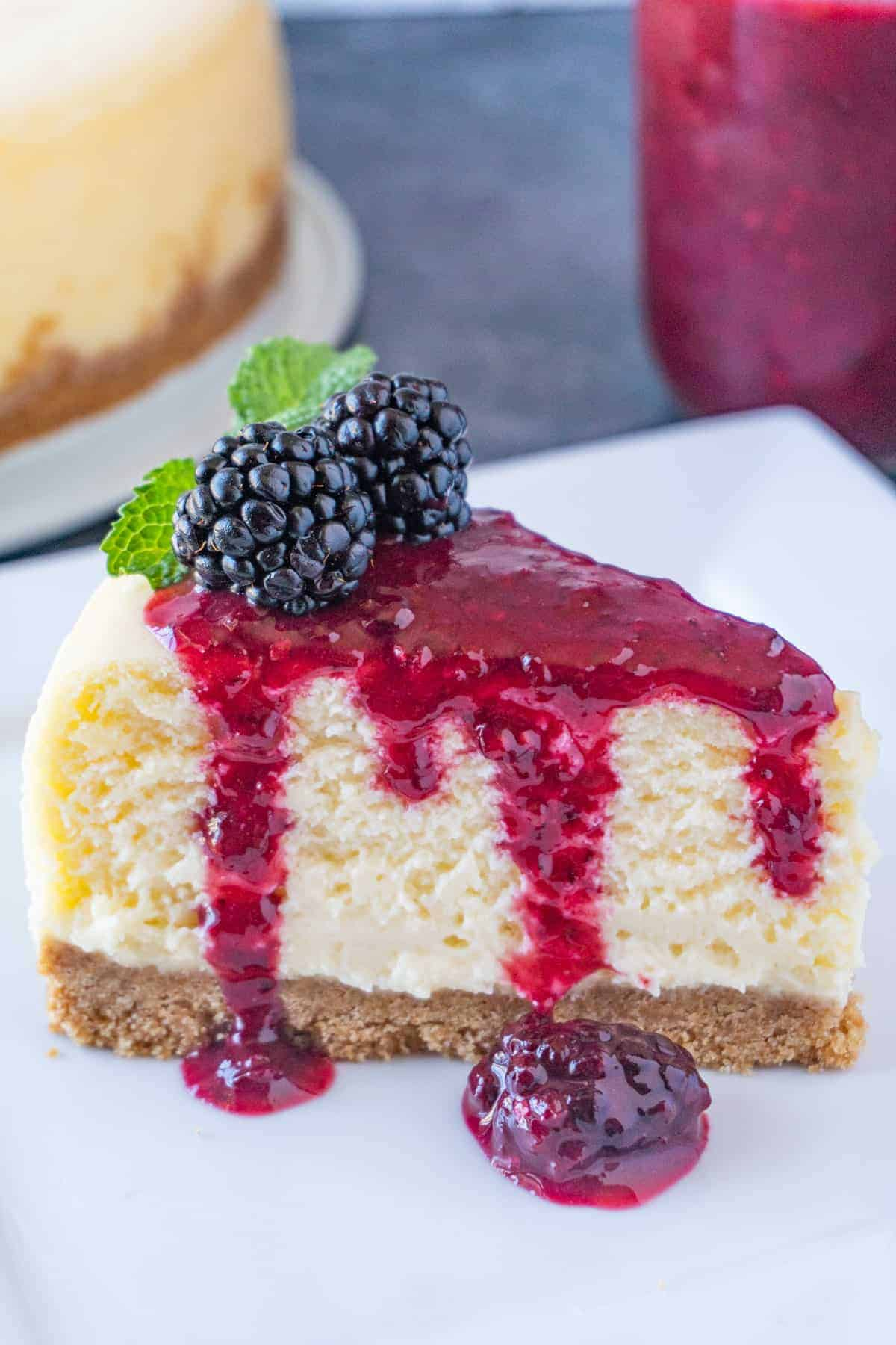 White Chocolate Cheesecake side picture