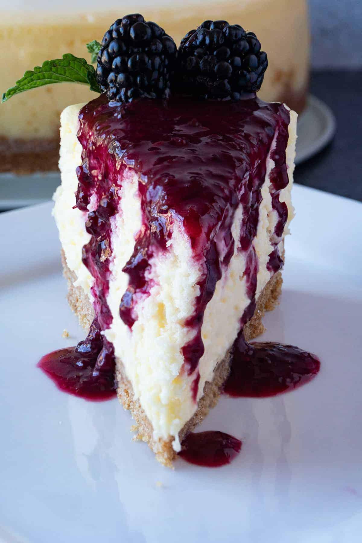 White Chocolate Cheesecake close up