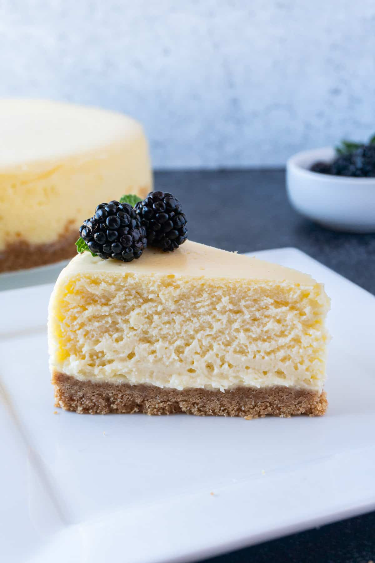White Chocolate Cheesecake without sauce