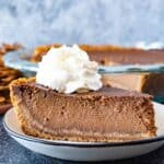 chocolate pumpkin pie featured image