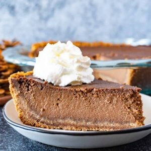 chocolate pumpkin pie featured image