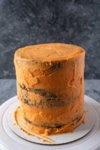 Cake with crumb coat