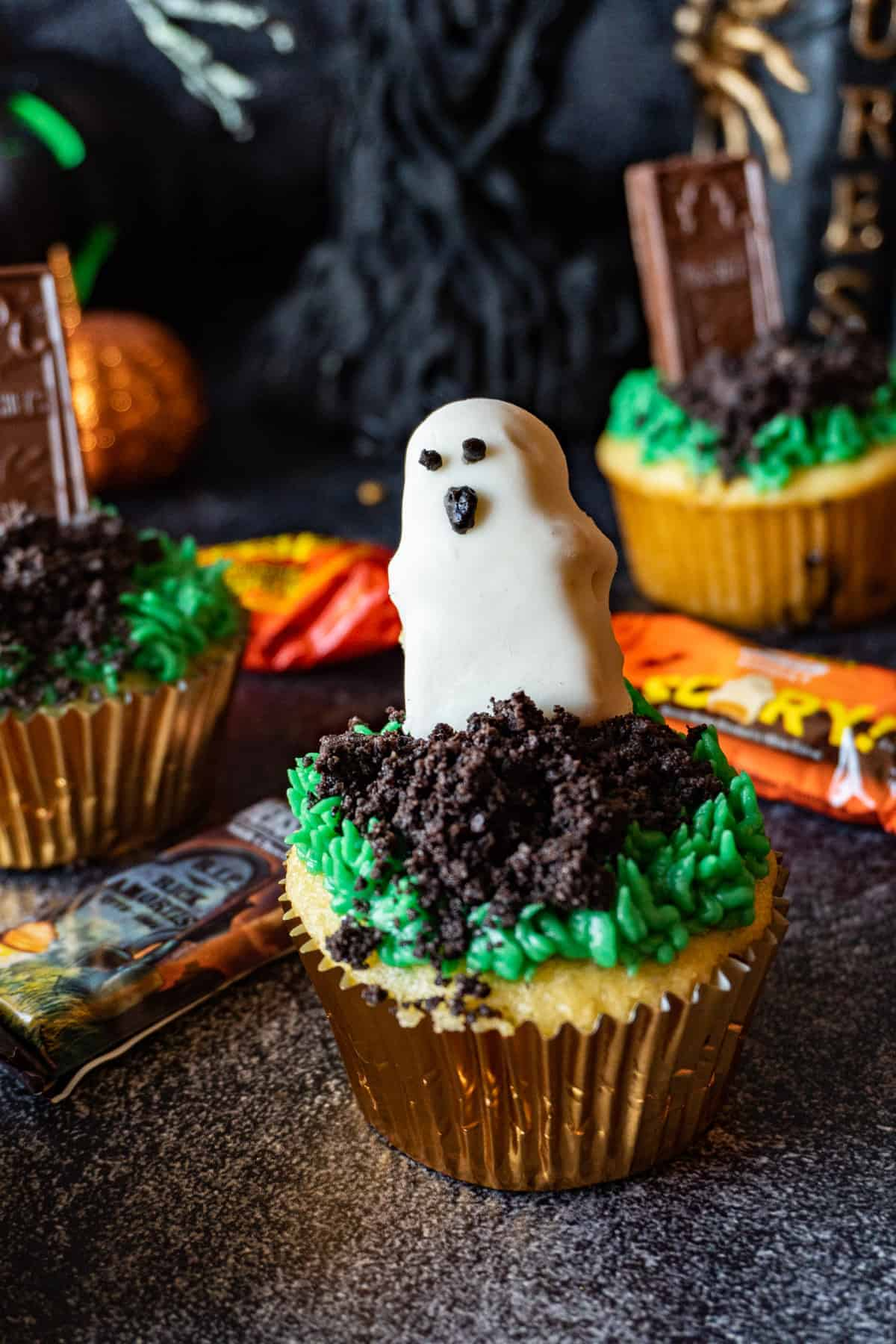 Ghost cupcake close up