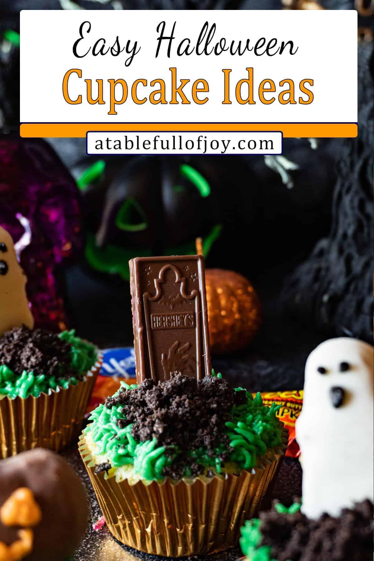 halloween cupcake pinterest pin